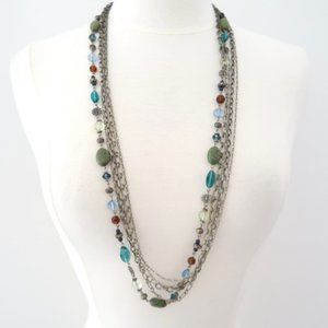 PREMIER DESIGNS layered beaded chains necklace